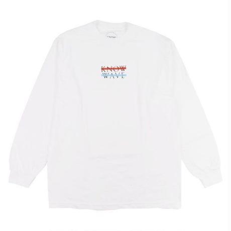 KNOW WAVE ノウウェーブ ロンT WAVELENGTH TEE メンズ トップス WHITE / KW2