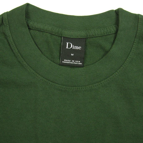 Dime Classic Embroidered T-Shirt ダイム メンズ Tシャツ クラッシク ロゴ刺繍 Dime Mtl IVY DIME22