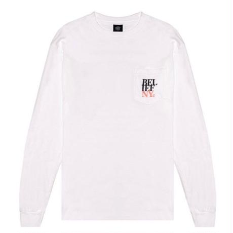 BELIEF NYC  STACKED L/S POCKET TEE  ビリーフ BL11