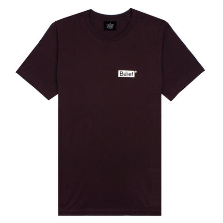 BELIEF NYC ビリーフ Tシャツ NAUTICAL TEE  BL12 DARK OXBLOOD