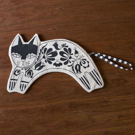 [titkos] Cat Clutch bag - Black