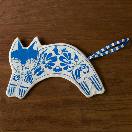 [titkos] Cat Clutch bag - Blue