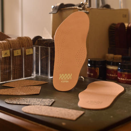 [Formin' ]革靴用レザーインソール(メンズ・コルク厚2mm)フォーミン