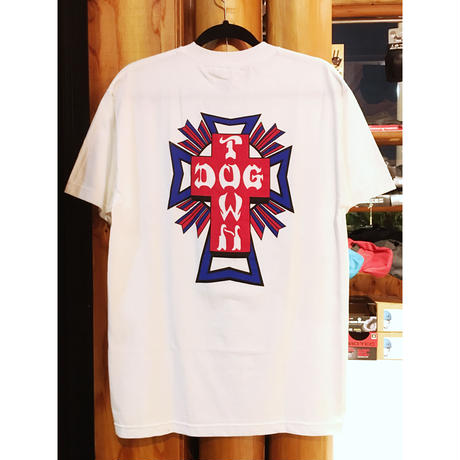 DOGTOWN S/S T クロスロゴ WHT M size