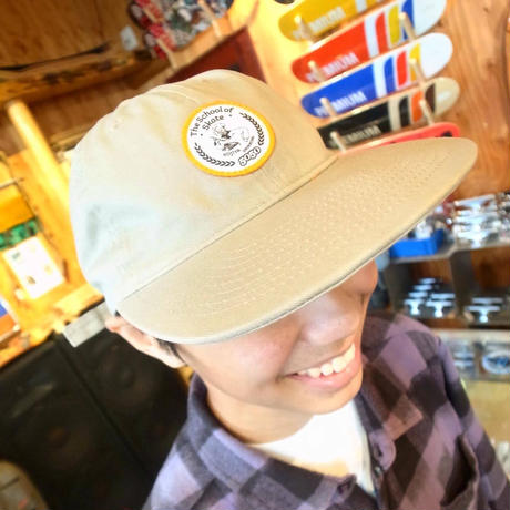 FIFTY FIFTY Original Cotton Cap Beige シェフ丸ワッペン