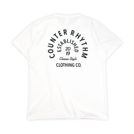 COUNTER RHYTHM CIRCLE LOGO S/S TEE WHITE Mサイズ
