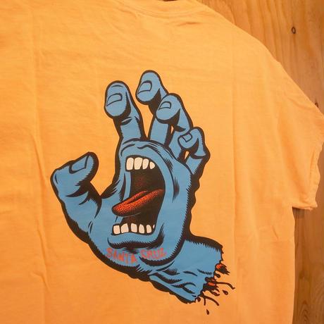 SANTACRUZ S/S-T SCREAMING HAND ネオンMANGO