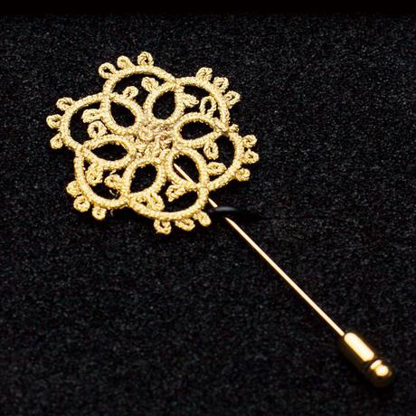 ハットピン/Gold knot/金箔レースアクセサリー「小夜曲(セレナーデ)」