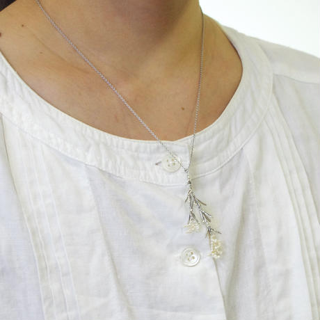 """Rice flower necklace"" small"