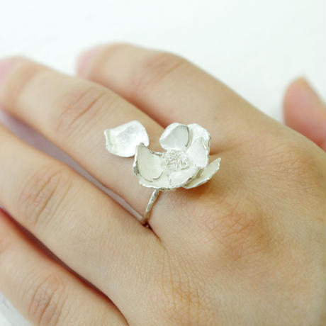 """silver moon ring"""
