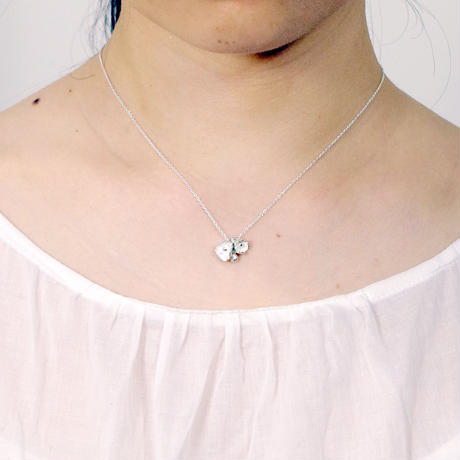 """poppy necklace"" wh/sv"