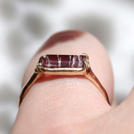 moss ring ゼブラトルマリン
