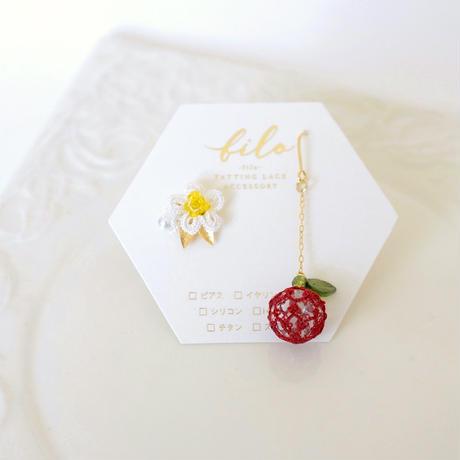 ふじりんご ピアス/イヤリング