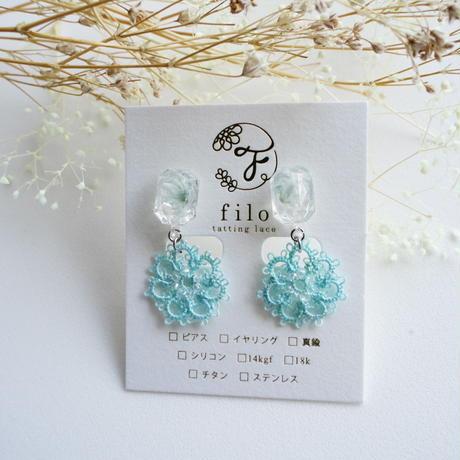 《春だけの季節限定》flesh flower(ライトブルー) ピアス/イヤリング