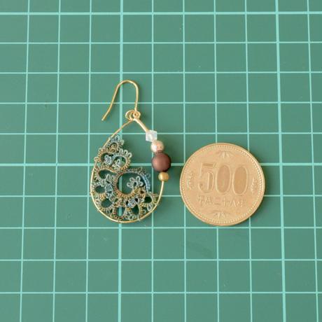 shell hoop(浅葱グラデーション)ピアス/イヤリング