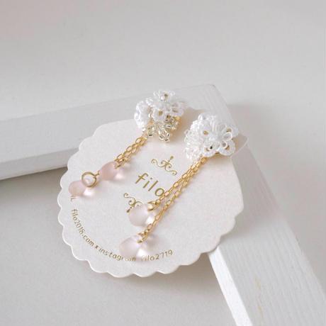 《再販》bouquet(ブーケ)ホワイト ピアス/イヤリング