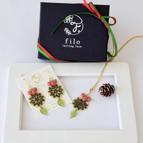 Christmas コフレ(minori) ピアスorイヤリング/ネックレスセット
