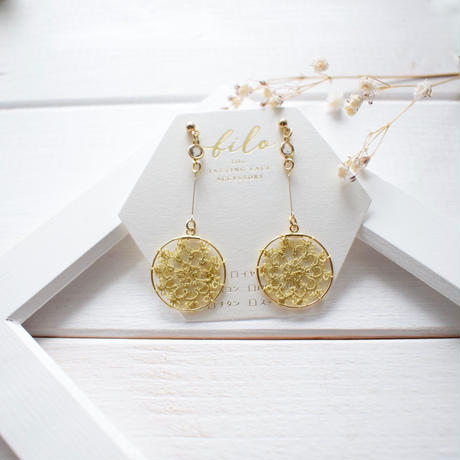 silk long hoop(gold)ピアス/イヤリング