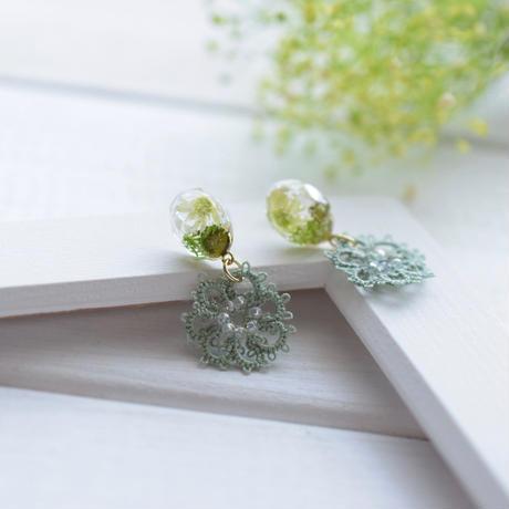 fresh flower(ライムグリーン)ピアス/イヤリング