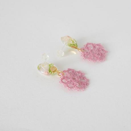 fresh flower(ピンク)ピアス/イヤリング