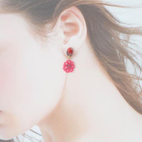 fresh flower(マゼンダピンク)ピアス/イヤリング
