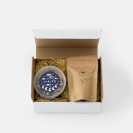 ギフトボックスB/ほうじ茶とおつまみセット
