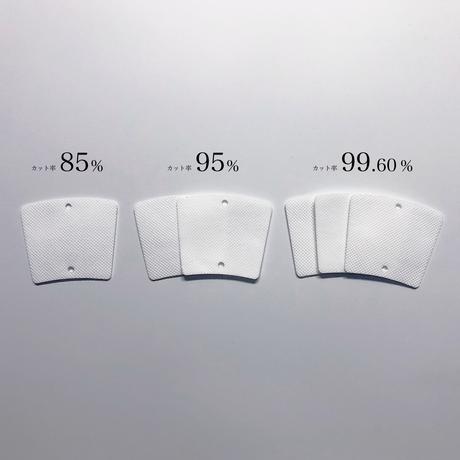 【徳用・送料無料】8回洗える交換フィルター10枚セット カット率99.6%※を実現した高性能マスク FENICE(フェニーシェ)用