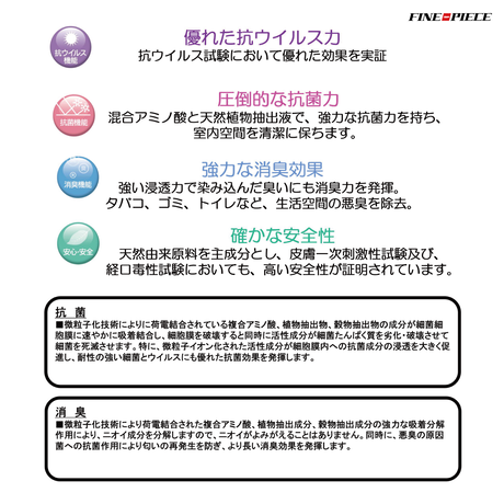 【セットでお得!】超音波ミスト器「ビーパワー」+ 強力除菌・抗菌・消臭剤「バクロン」(1L 2本セット)