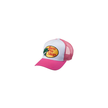 さあ釣りに出かけよう!ど定番!【Bassproshops  バスプロショップ 刺繍ロゴ メッシュキャップ Embroidered Logo Mesh Caps 】カラーHOT PINK