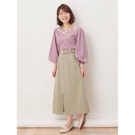 Supreme.La.La. (シュープリーム ララ)  Aラインミディータケスカート183-SK013