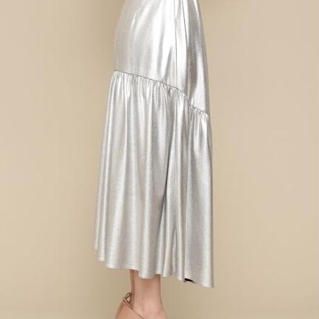 アシンメトリー切り替えスカート