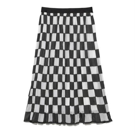 シアーブロックスカート
