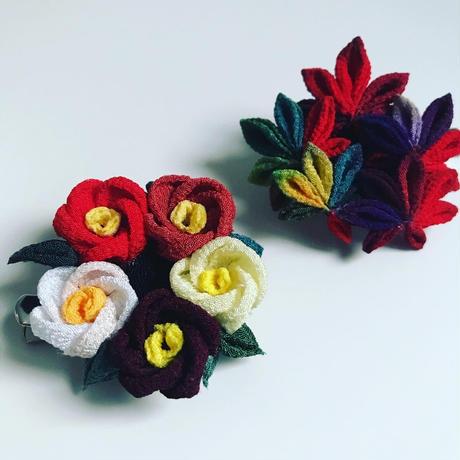 つまみ細工の可憐な花々 初版&改訂版2冊セット 限定3