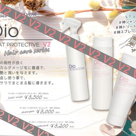 毎月定期便!!  Dio Heat Protective  Shampoo & Treatment  V2 & Treatment Water V2 1セット