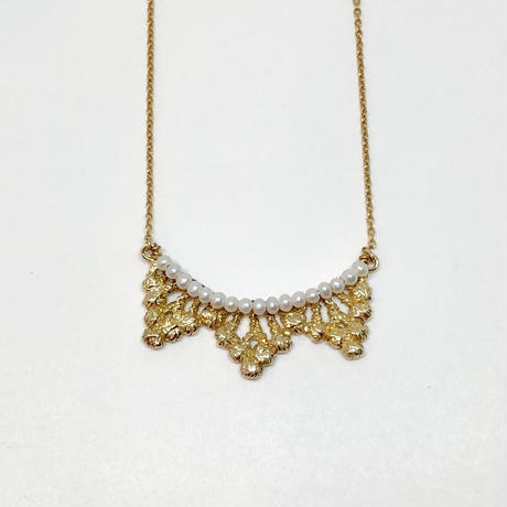 lace forest necklace (gold)---125
