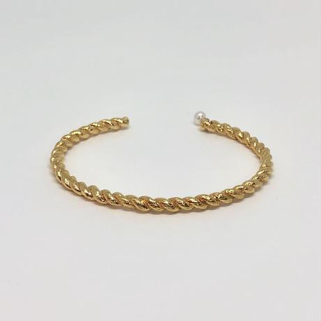 lace rope bangle (gold)---189