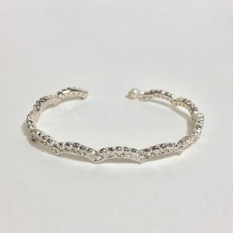 lace small wave bangle(silver)---191
