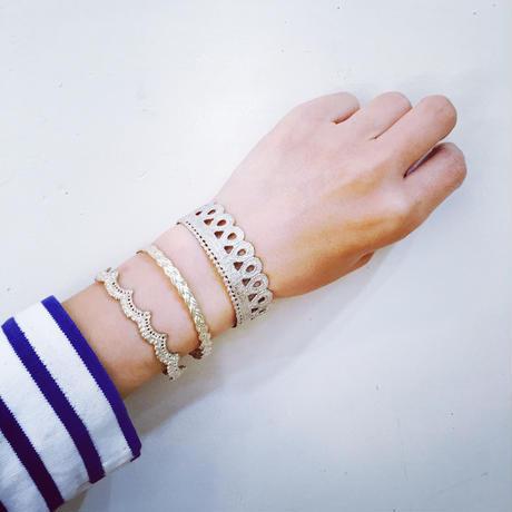 wave bangle(silver)---034-P