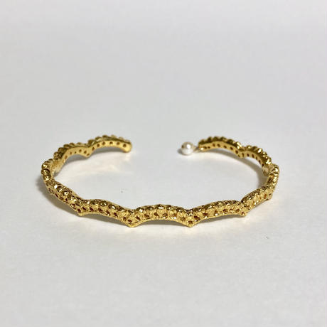 lace small wave bangle(gold)---191