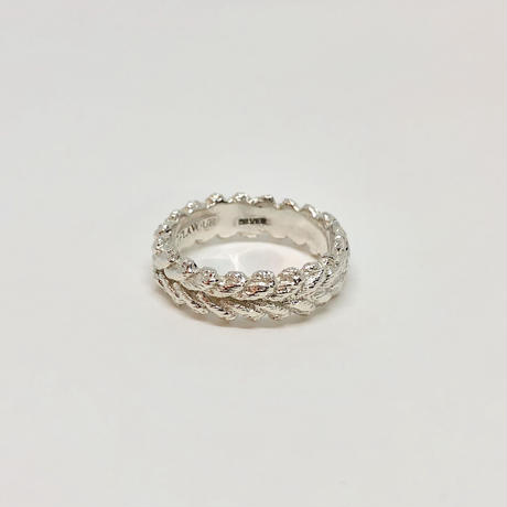 lace laurel ring (silver)---112