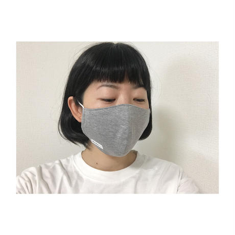 フリースリーブマスク(大人用小さめ)グレーモク