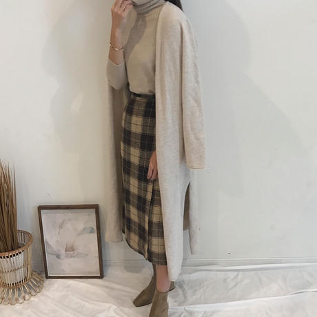 Side slit knit cardigan (2color)