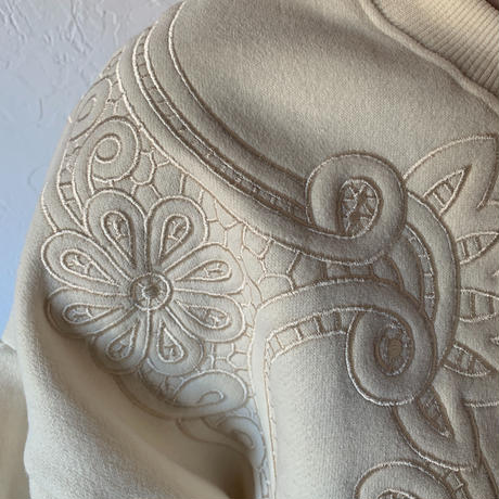 embroidery sweat[TOP20AW563]