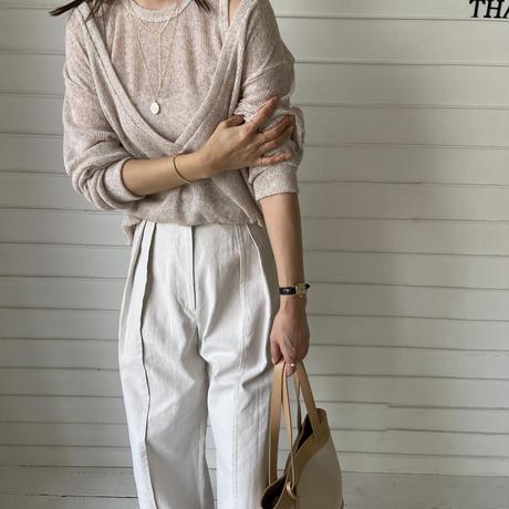 hem design wide pants (3color)[BT21SS659]