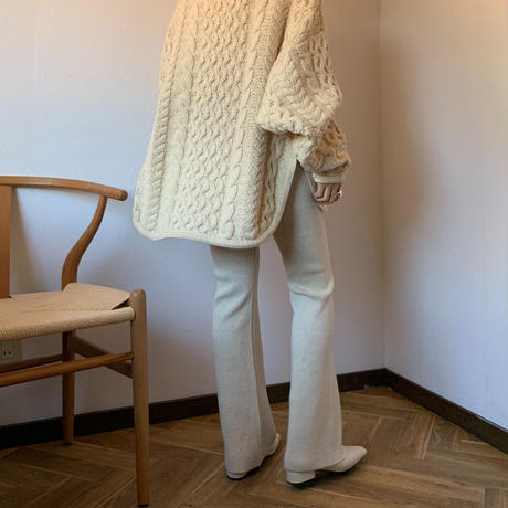 knit straight rib pants (2color)[BT20AW479]