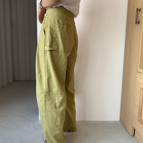 linen work pants (2color)