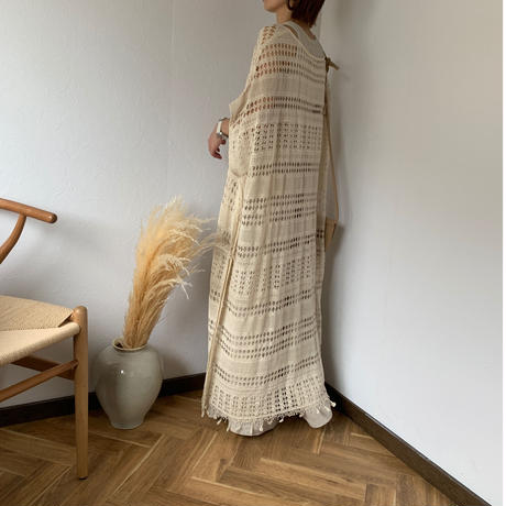 knit caftan poncho (2color) [OP20SS413]