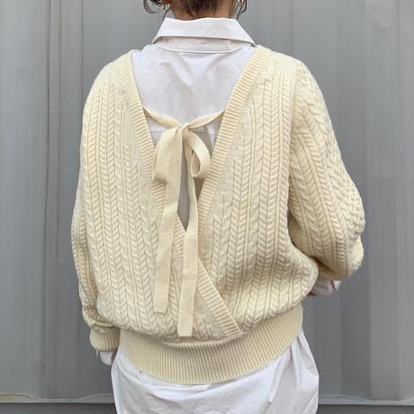 backschön cable knit (2color)[TOP20AW560]