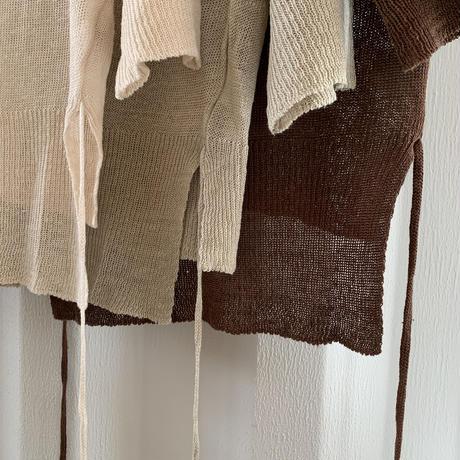 v neck short sleeve summer knit (3color)[TOP20SS423]
