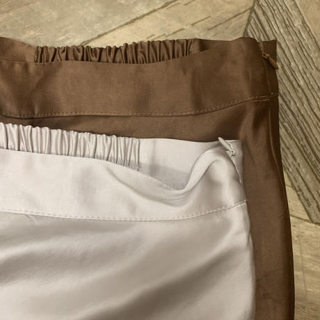 satijn mermaid skirt (2color)[BT21SS650]